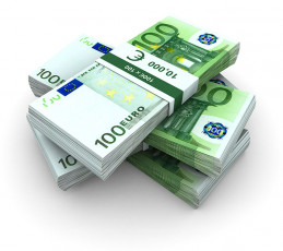 عکس دسته اسکناس یورو