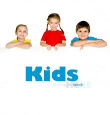 عکس بچه ها با تابلو تبلیغات