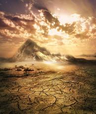 عکس صحرا و زمین خشک شده