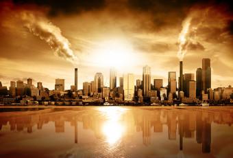 عکس شهر صنعتی و آلوده