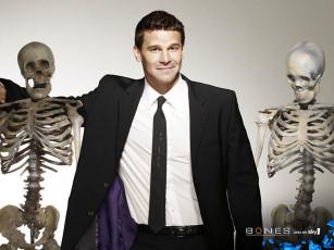 عکس اسکلت بدن انسان در کنار مرد