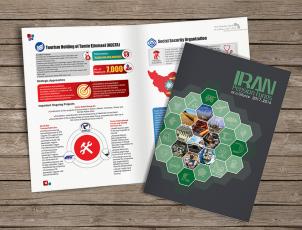 طراحی کتابچه انگلیسی اینفوگرافیک برای سازمان تامین اجتماعی