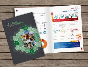 طراحی کتابچه اینفوگرافیک برای سازمان تامین اجتماعی