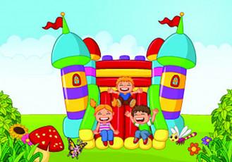 تصویر وکتور قلعه بازی بچه ها در پارک