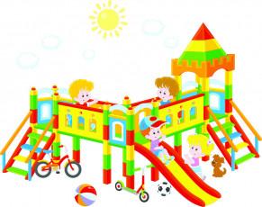 تصویر وکتور وسایل بازی کودکان