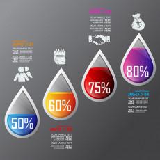 تصویر وکتور اینفوگرافی و درصد