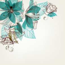 تصویر وکتور گل سبز برای طراحی