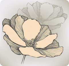 تصویر وکتور طرح گل بزرگ