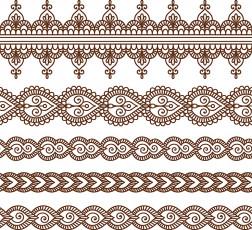 تصویر وکتور گلهای اسلیمی برای طراحی