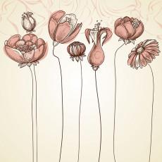 تصویر وکتور شاخه های گل
