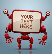 تصویر وکتور ربات قرمز