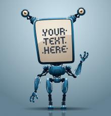 تصویر وکتور ربات آبی