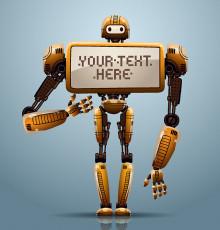 تصویر وکتور ربات زرد