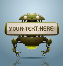 تصویر وکتور ربات کوچک سبز
