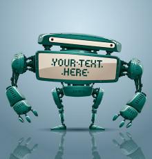 تصویر وکتور ربات دیجیتالی سبز