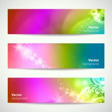 تصویر وکتور بکگراند رنگی برای طراحی بنر