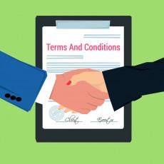 تصویر وکتور دست دادن و قرارداد