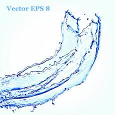 تصویر وکتور جریان آب