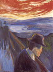 تابلوی نقاشی ناامیدی اثر ادوارد مونک