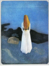 تابلوی نقاشی زن جوان در ساحل اثر ادوارد مونک
