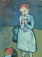 تابلوی نقاشی بچه و کبوتر اثر پابلو پیکاسو
