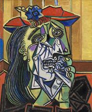 تابلوی نقاشی زن گریان اثر پابلو پیکاسو