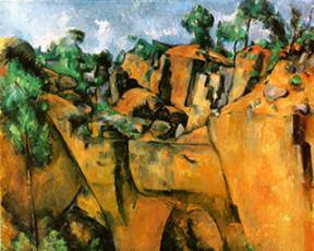 تابلوی نقاشی Bibemus Quarry اثر پل سزان