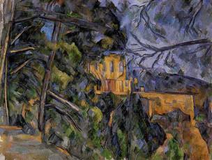 تابلوی نقاشی قلعه سیاه اثر پل سزان