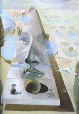 تابلوی نقاشی چهره آفرودیت کنیدوس در یک منظره اثر سالوادور دالی