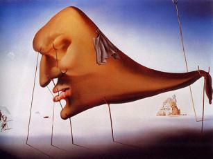 تابلوی نقاشی خواب اثر سالوادور دالی