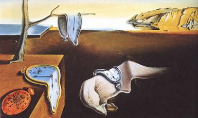 تابلوی نقاشی پایداری حافظه اثر سالوادور دالی