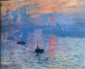 تابلوی نقاشی احساس طلوع خورشید اثر کلود مونه
