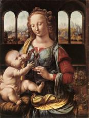 تابلوی نقاشی The Madonna of the Carnation اثر لئوناردو داوینچی