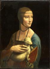 تابلوی نقاشی بانوی با قاقم اثر لئوناردو داوینچی