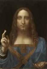 تابلوی نقاشی عیسی مسیح منجی جهان اثر لئوناردو داوینچی