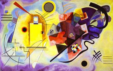 تابلوی نقاشی زرد قرمز آبی اثر واسیلی کاندینسکی
