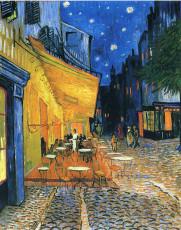 تابلوی نقاشی تراس کافه در شب اثر ونسان ونگوگ
