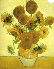 تابلوی نقاشی گلدان گلهای آفتابگردان اثر ونسان ونگوگ