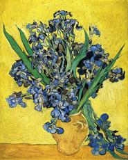 تابلوی نقاشی گلدان زنبق های آبی اثر ونسان ونگوگ