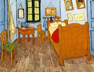 تابلوی نقاشی اتاق خواب آرل اثر ونسان ونگوگ