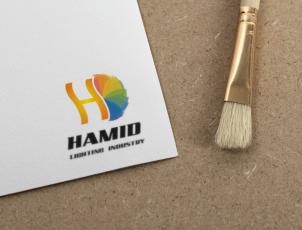 طراحی لوگو برای صنایع روشنایی حمید