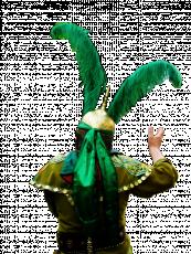 عکس کلاه خود تعزیه با پر سبز