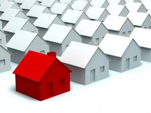 عکس گرافیکی خانه سفید و قرمز