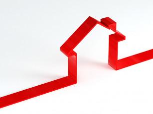 عکس گرافیکی خانه و مسکن قرمز