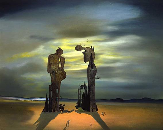 تابلوی نقاشی یادبود باستان شناس اثر سالوادور دالی