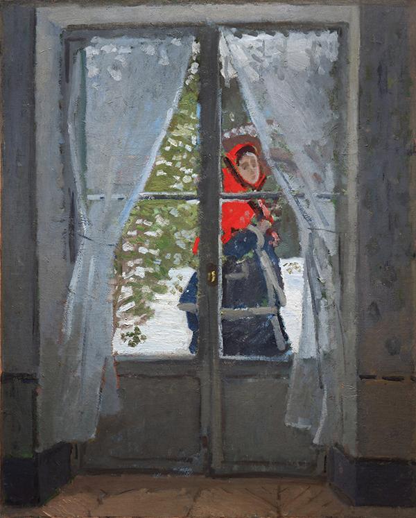 تابلوی نقاشی شنل قرمز اثر کلود مونه