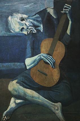تابلوی نقاشی گیتاریست قدیمی کور اثر پابلو پیکاسو