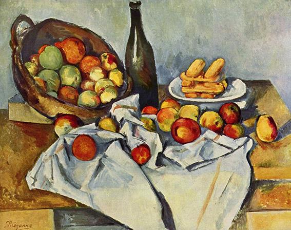تابلوهای نقاشی سبد سیب اثر پل سزان